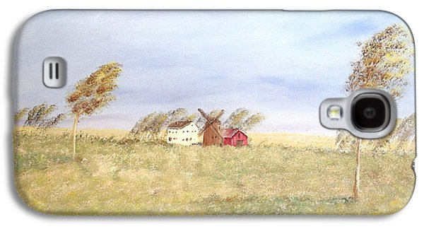 Old Barns Paintings Galaxy S4 Cases - The Red Barn Galaxy S4 Case by Wingsdomain Art and Photography