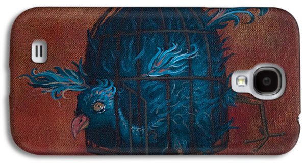 Cage Paintings Galaxy S4 Cases - The Restrictive Nature of Fashion  Galaxy S4 Case by Kelly Jade King