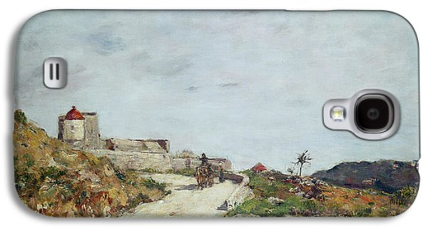The Road To The Citadel At Villefranche Galaxy S4 Case by Eugene Louis Boudin