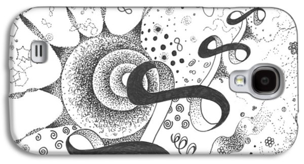 Behind The Scenes Drawings Galaxy S4 Cases - The Silent Dance of the Particles Galaxy S4 Case by Helena Tiainen