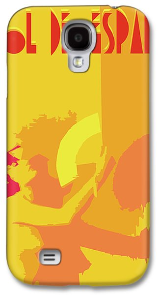Digital Abstract Drawings Galaxy S4 Cases - The Spanish sun By Quim Abella Galaxy S4 Case by Joaquin Abella