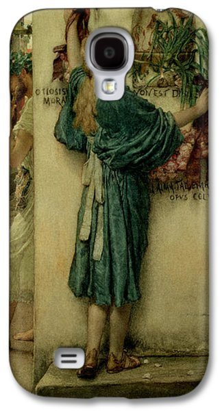 The Street Altar Galaxy S4 Case by Sir Lawrence Alma-Tadema