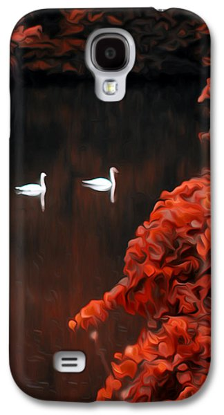 Swan Pair Galaxy S4 Cases - The Swan Pair Galaxy S4 Case by Bill Cannon
