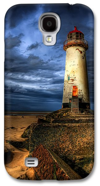Beach Landscape Digital Galaxy S4 Cases - The Talacre Lighthouse Galaxy S4 Case by Adrian Evans