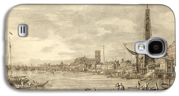 The Thames Looking Towards Westminster From Near York Water Gate  Galaxy S4 Case by Giovanni Antonio Canaletto