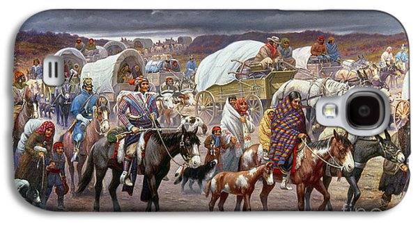 Dogs Paintings Galaxy S4 Cases - The Trail Of Tears Galaxy S4 Case by Granger