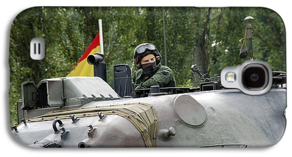 Component Photographs Galaxy S4 Cases - The Turret Of The Leopard 1a5 Mbt Galaxy S4 Case by Luc De Jaeger