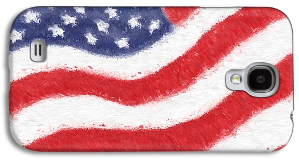 Star Glass Galaxy S4 Cases - The United States Flag Galaxy S4 Case by Heidi Smith