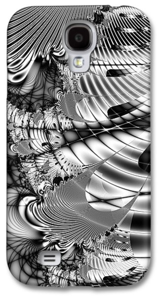 Algorithmic Abstract Galaxy S4 Cases - The Web We Weave Galaxy S4 Case by Wingsdomain Art and Photography