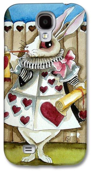 Alice In Wonderland Galaxy S4 Cases - The White Rabbit Galaxy S4 Case by Lucia Stewart