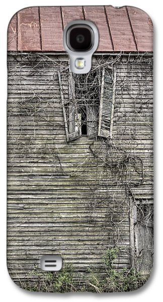 The Haunted House Galaxy S4 Cases - The Window up Above Galaxy S4 Case by JC Findley