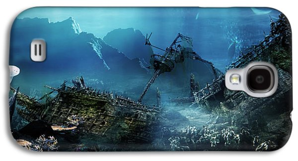 Fish Digital Art Galaxy S4 Cases - The Wreck Galaxy S4 Case by Karen H