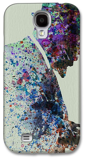 Band Galaxy S4 Cases - Thelonious Monk Watercolor 1 Galaxy S4 Case by Naxart Studio