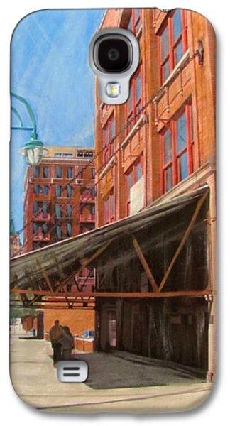 Lamp Post Mixed Media Galaxy S4 Cases - Third Ward - Broadway Awning Galaxy S4 Case by Anita Burgermeister