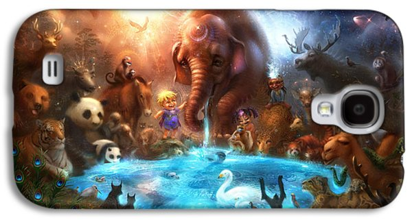 Fantasy Digital Art Galaxy S4 Cases - Thirst For Life Galaxy S4 Case by Alex Ruiz