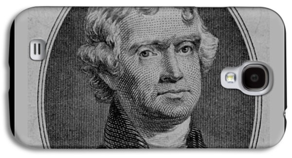 4th July Galaxy S4 Cases - THOMAS JEFFERSON in BLACK AND WHITE Galaxy S4 Case by Rob Hans