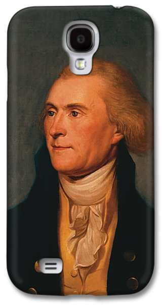 America Paintings Galaxy S4 Cases - Thomas Jefferson Galaxy S4 Case by War Is Hell Store