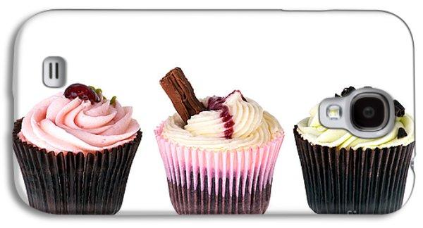 Studio Photographs Galaxy S4 Cases - Three cupcakes Galaxy S4 Case by Jane Rix