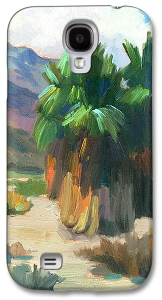 Impressionism Photographs Galaxy S4 Cases - Three Palms Galaxy S4 Case by Diane McClary