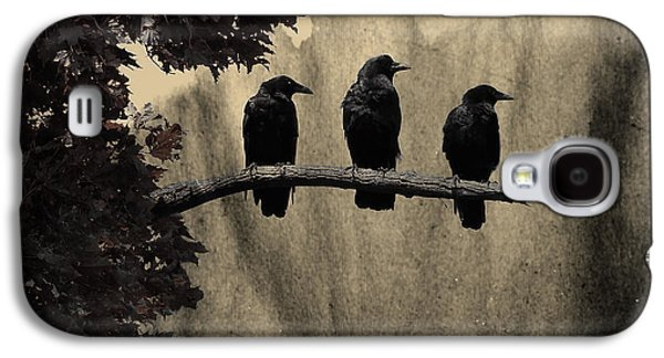 Abstract Nature Galaxy S4 Cases - Three Ravens Galaxy S4 Case by Gothicolors Donna Snyder