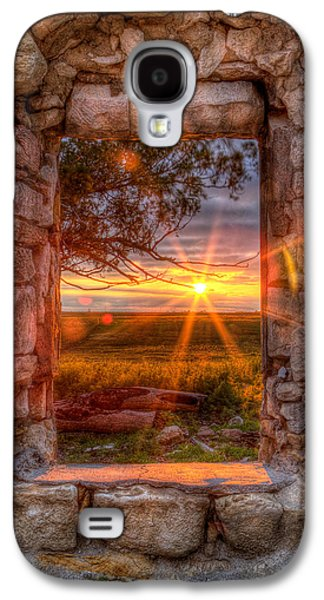 Frame House Galaxy S4 Cases - Through the Bedroom Window Galaxy S4 Case by Thomas Zimmerman