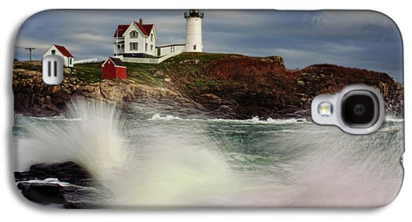 Cape Neddick Lighthouse Galaxy S4 Cases - Thundering Tide Galaxy S4 Case by Rick Berk