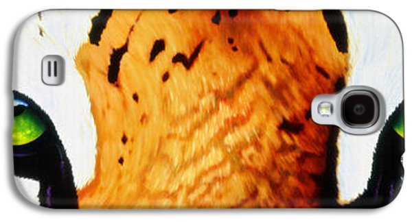 Original Art Paintings Galaxy S4 Cases - Tiger Eyes Galaxy S4 Case by Tim Dangaran