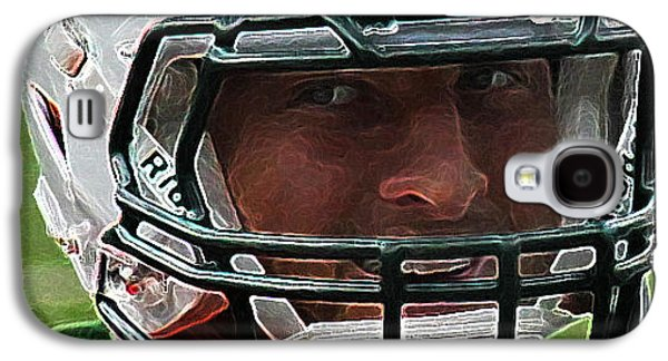 Tim Tebow Galaxy S4 Cases - Tim Tebow Art Deco Close-up - New York Jets -  Galaxy S4 Case by Lee Dos Santos