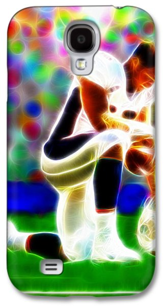 Tebowing Galaxy S4 Cases - Tim Tebow Magical Tebowing 2 Galaxy S4 Case by Paul Van Scott