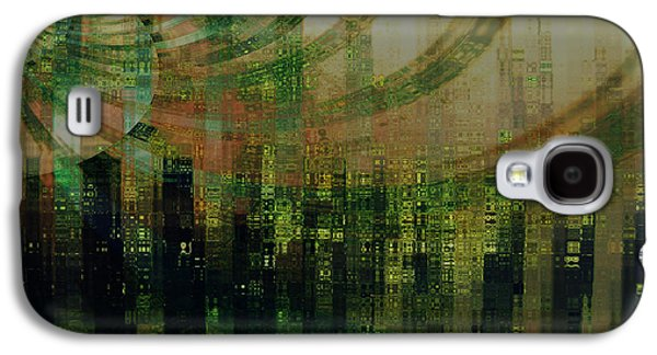 Modern Abstract Pyrography Galaxy S4 Cases - Tin City Galaxy S4 Case by Kathy Sheeran