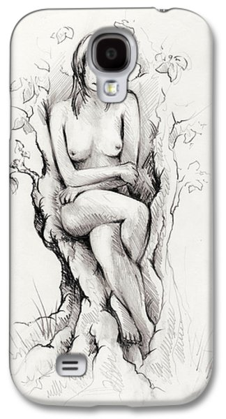Nature Study Drawings Galaxy S4 Cases - To remain Galaxy S4 Case by Rachel Christine Nowicki