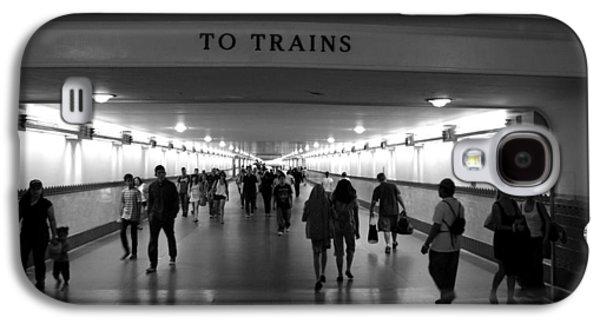 Transportation Photographs Galaxy S4 Cases - To Trains Galaxy S4 Case by Jeff Lowe