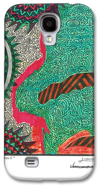 Abstract Seascape Drawings Galaxy S4 Cases - To Wols Galaxy S4 Case by Jerry Conner