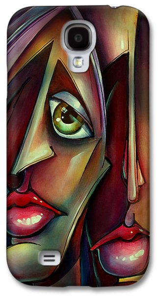 Mood Paintings Galaxy S4 Cases - together Watching Galaxy S4 Case by Michael Lang