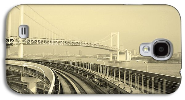 City Streets Galaxy S4 Cases - Tokyo Metro Ride Galaxy S4 Case by Naxart Studio