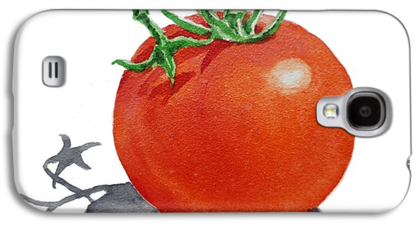 Crops Galaxy S4 Cases - ArtZ Vitamins Tomato Galaxy S4 Case by Irina Sztukowski