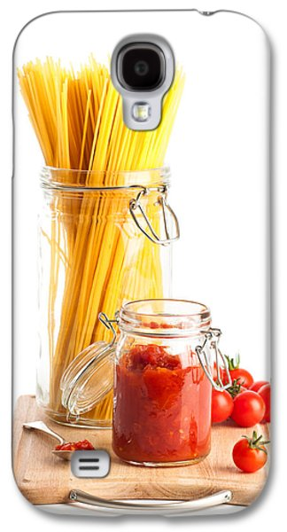Spaghetti Galaxy S4 Cases - Tomatoes Sauce and  Spaghetti Pasta  Galaxy S4 Case by Amanda And Christopher Elwell