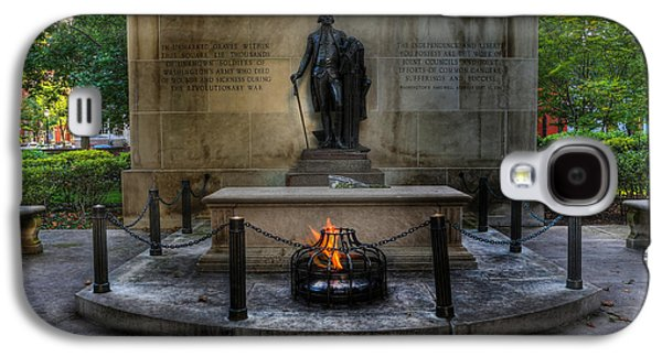 Statue Portrait Galaxy S4 Cases - Tomb of the Unknown Revolutionary War Soldier II - George Washington  Galaxy S4 Case by Lee Dos Santos