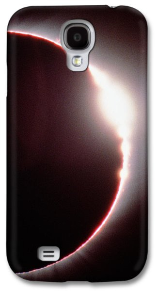 Solar Eclipse Galaxy S4 Cases - Total Solar Eclipse, Showing A Solar Flare Galaxy S4 Case by Dr Fred Espenak