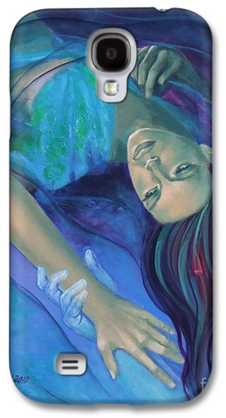 Cage Paintings Galaxy S4 Cases - Touching the ephemeral Galaxy S4 Case by Dorina  Costras
