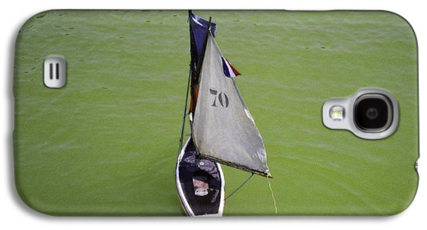 Toy Boat Digital Art Galaxy S4 Cases - Toy Sailboat on Pond Galaxy S4 Case by Donna Munro