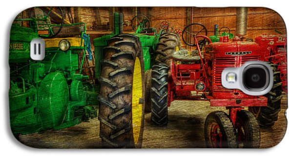 Machinery Galaxy S4 Cases - Tractors at Rest - John Deere - Mccormick - Farmall - farm equipment - nostalgia - vintage Galaxy S4 Case by Lee Dos Santos