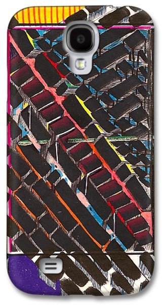 Behind The Scenes Drawings Galaxy S4 Cases - Transportation Hub Galaxy S4 Case by Al Goldfarb