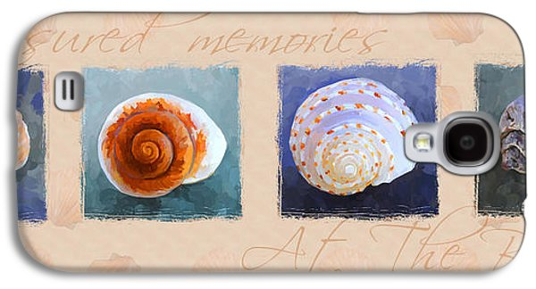 Terra Paintings Galaxy S4 Cases - Treasured Memories Sea Shell Collection Galaxy S4 Case by Jai Johnson