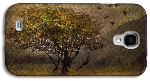 Nature Scene Mixed Media Galaxy S4 Cases - Tree and Birds Galaxy S4 Case by Svetlana Sewell