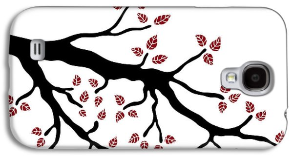 Flora Drawings Galaxy S4 Cases - Tree branch Galaxy S4 Case by Frank Tschakert