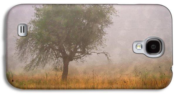 Tn Barn Galaxy S4 Cases - Tree in Fog Galaxy S4 Case by Debra and Dave Vanderlaan