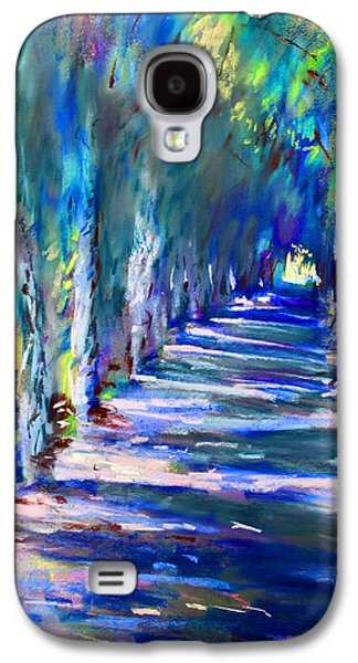 Light Pastels Galaxy S4 Cases - Tree Lined Road Galaxy S4 Case by Ylli Haruni
