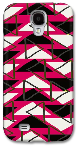 Louisa Galaxy S4 Cases - Triangles Galaxy S4 Case by Louisa Knight