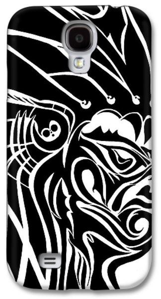 Basic Drawings Galaxy S4 Cases - Tribal Leader Galaxy S4 Case by Jack Norton